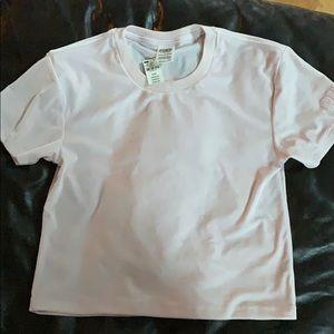 PINK Victoria Secret velvety cropped T-shirt